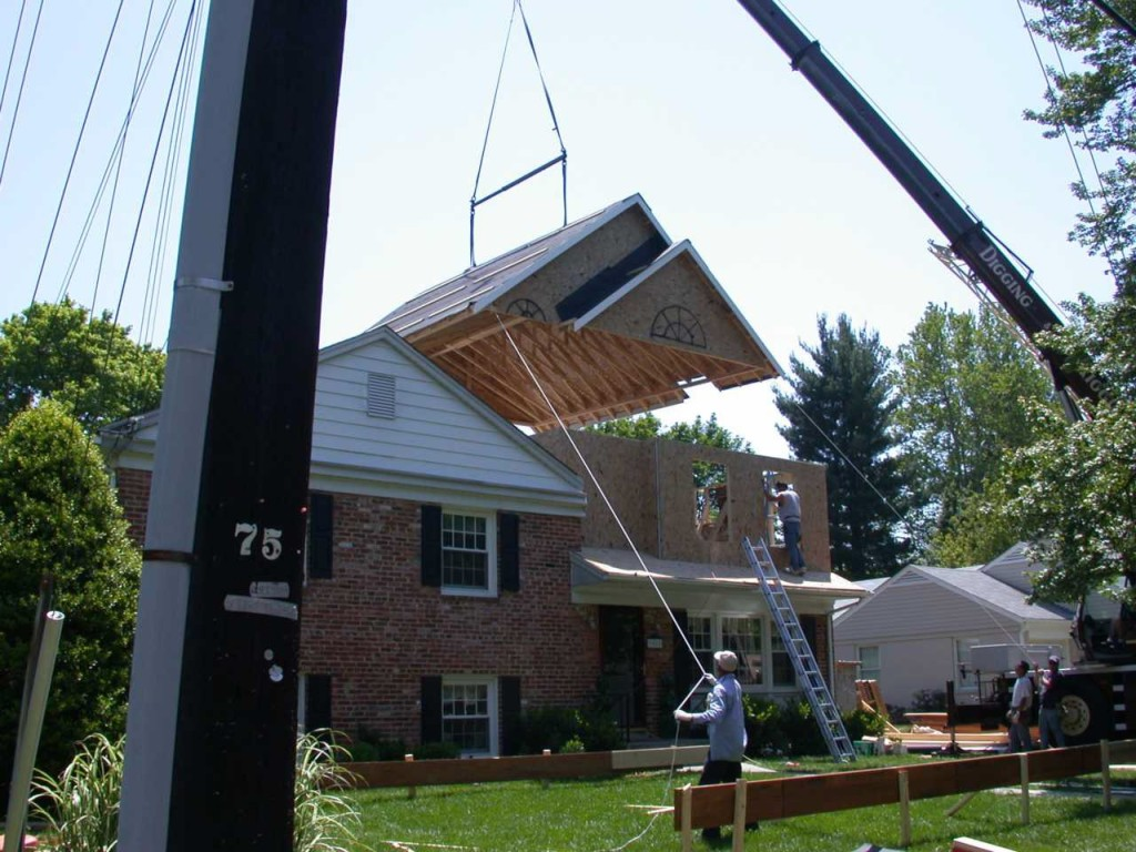 Crane assist roof