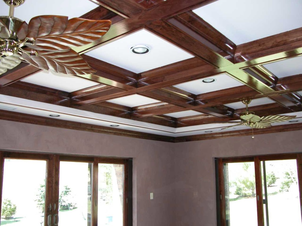 Custom wood accent ceiling