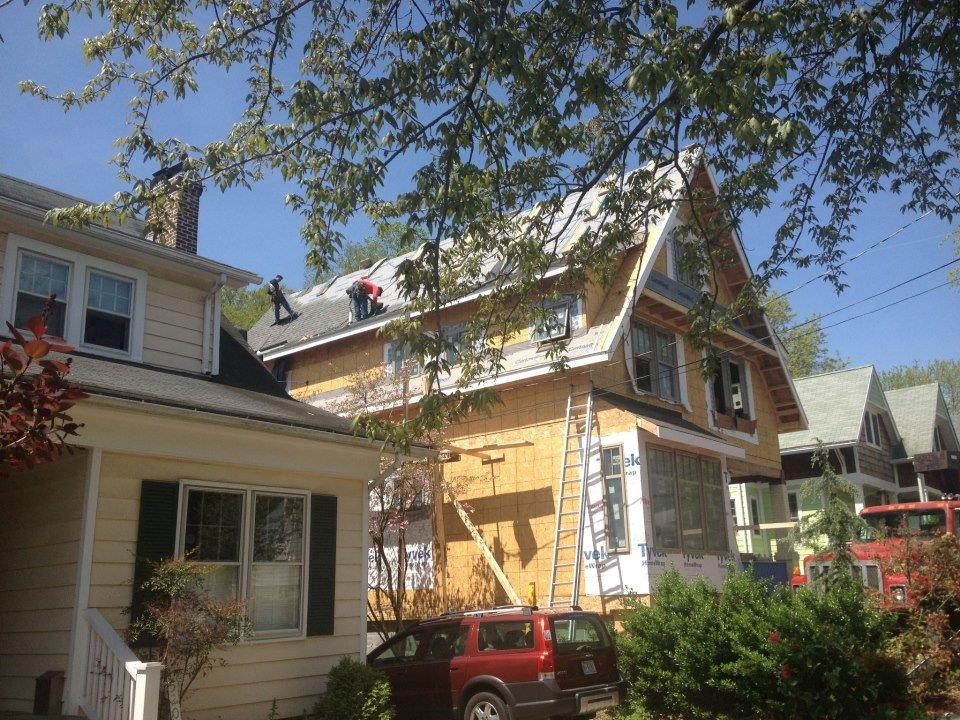 New GAF Timberline shingles with standing seam metal roofing