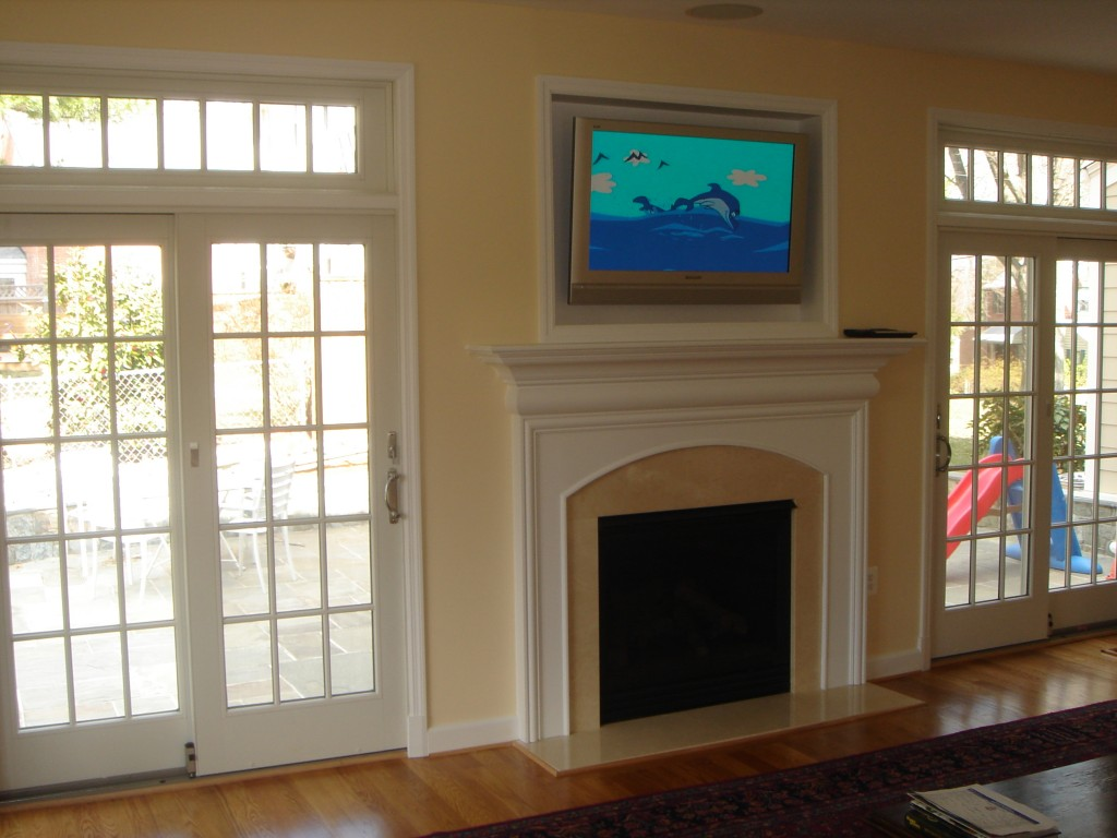 Built in Fireplace Mantle