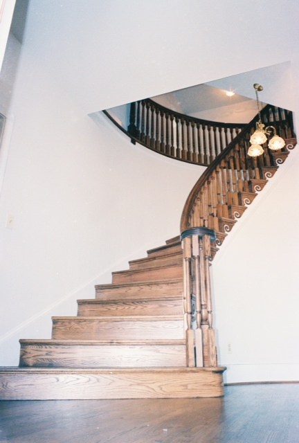 Builtin Staircase and rails